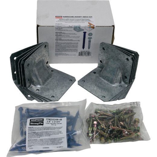 Simpson Strong Tie Gusset Angle Hurricane Tie Kit for Masonry with Titan Screws (10-Piece)