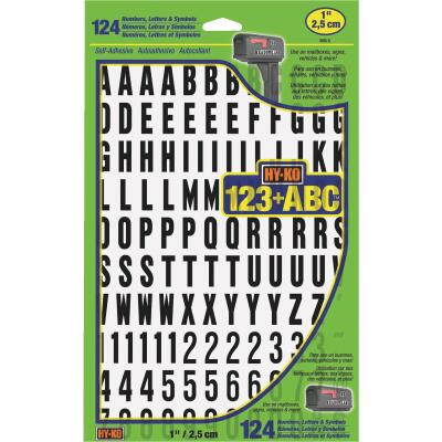 Hy-Ko 1 In. Numbers, Letters & Symbols (124 Count)