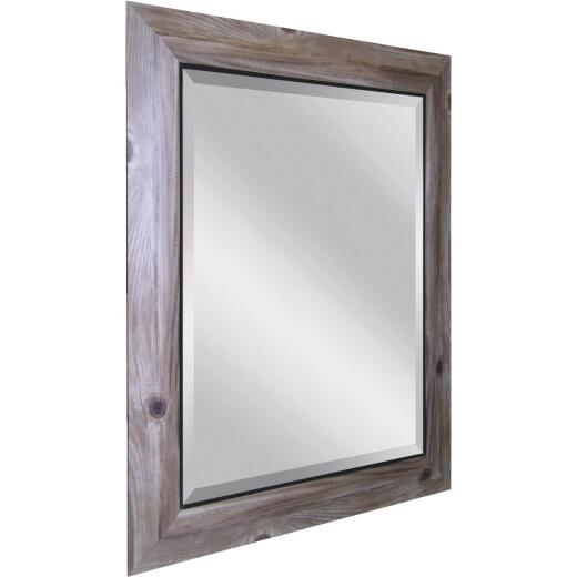 Erias Home Designs 21.5 In. W. x 25.5 In. H. Distressed Bark-Look Framed Wall Mirror