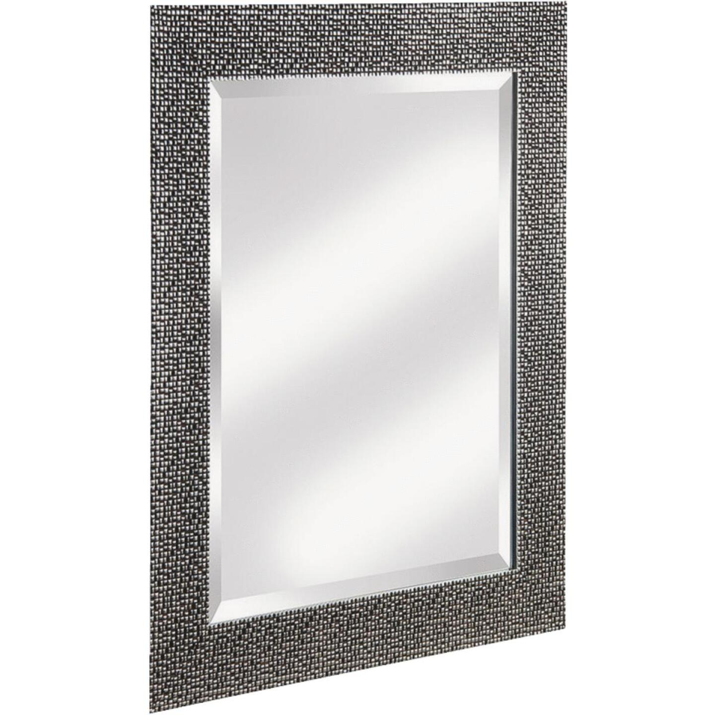 Erias Home Designs 25.5 In. W. x 35.5 In. H. Chromed Espresso Framed Wall Mirror Image 1