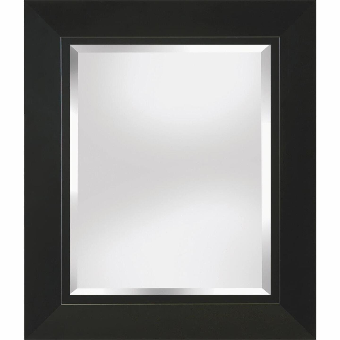 Erias Home Designs 23.5 In. W x 27.5 In. H Black Framed Wall Mirror Image 1