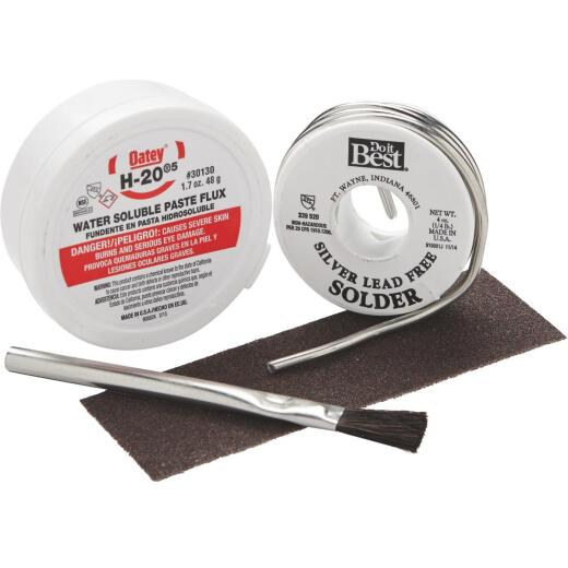 Do it Silver bearing lead-free 1/4 lb H-205 water soluble paste flux Solder Kit