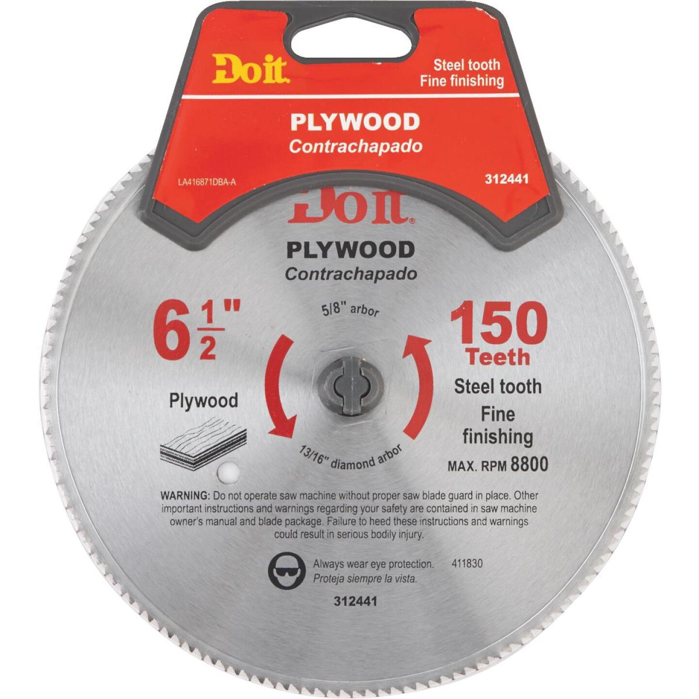 Do it 6-1/2 In. 150-Tooth Plywood Circular Saw Blade Image 1
