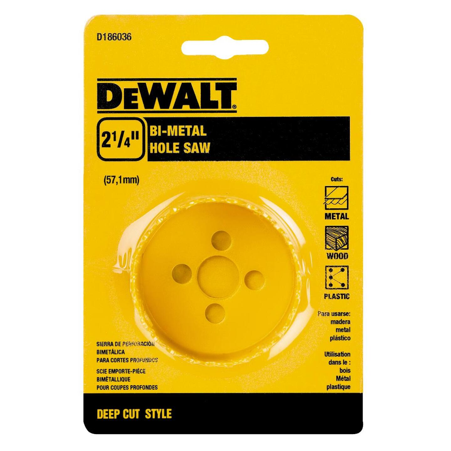 DeWalt 2-1/4 In. Bi-Metal Hole Saw Image 1