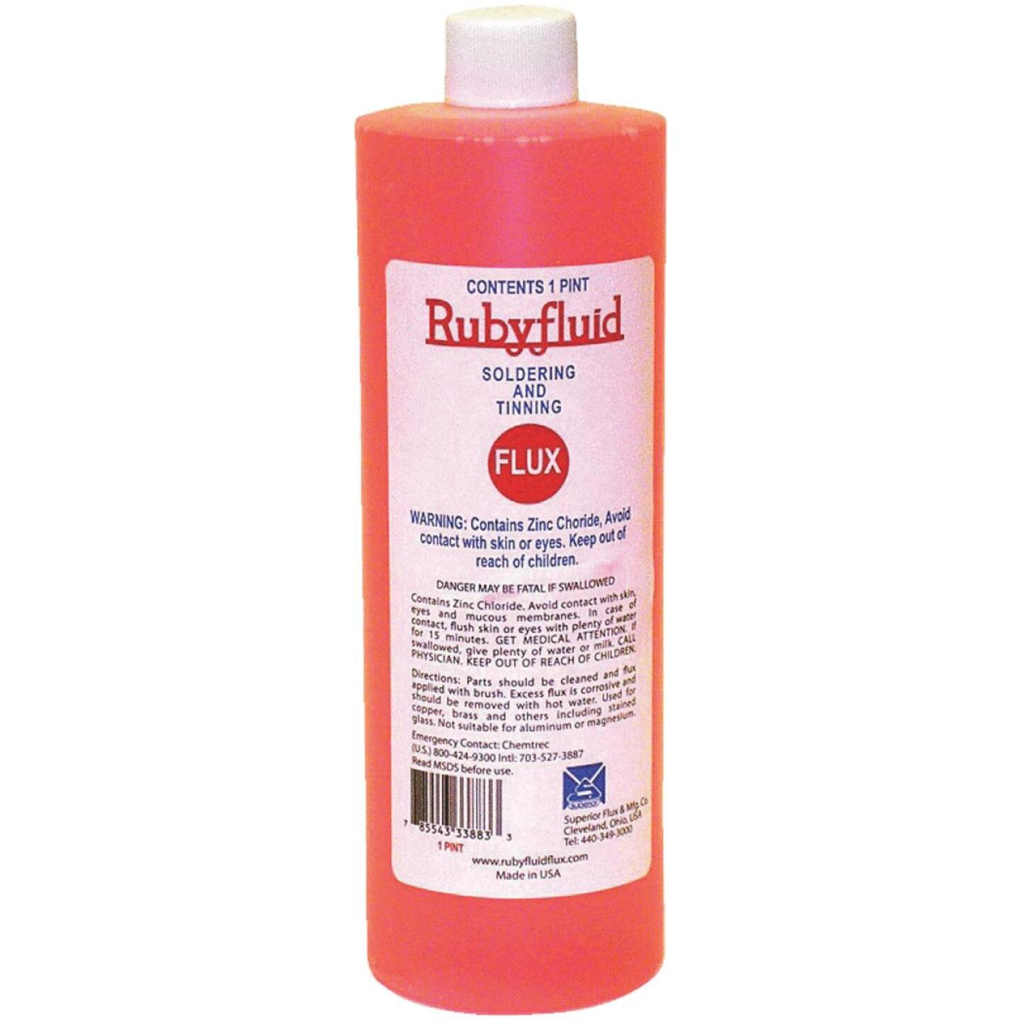 Superior Flux Rubyfluid 16 Oz. Soldering Flux, Liquid Image 1