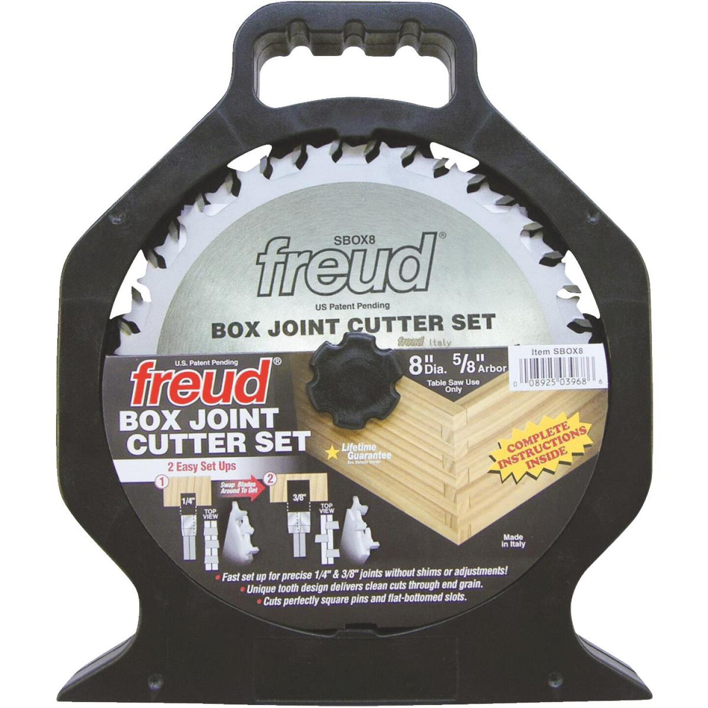 Freud 8 In. Box Joint Cutter Circular Saw Blade Set Image 1