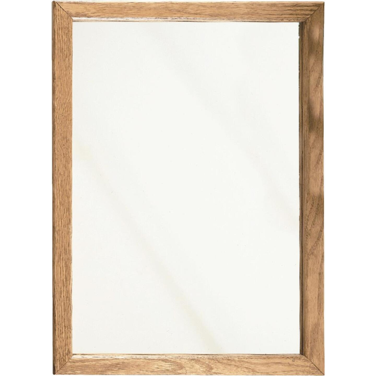 Zenith Oak 16 In. W x 22 In. H x 4-1/2 In. D Single Mirror Surface/Recess Mount Framed Medicine Cabinet Image 1