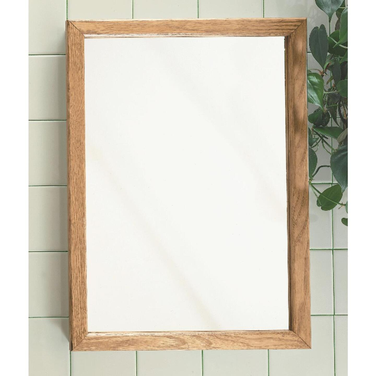 Zenith Oak 16 In. W x 22 In. H x 4-1/2 In. D Single Mirror Surface/Recess Mount Framed Medicine Cabinet Image 2