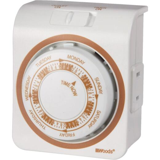 Woods 125V Indoor Mechanical Vacation Timer