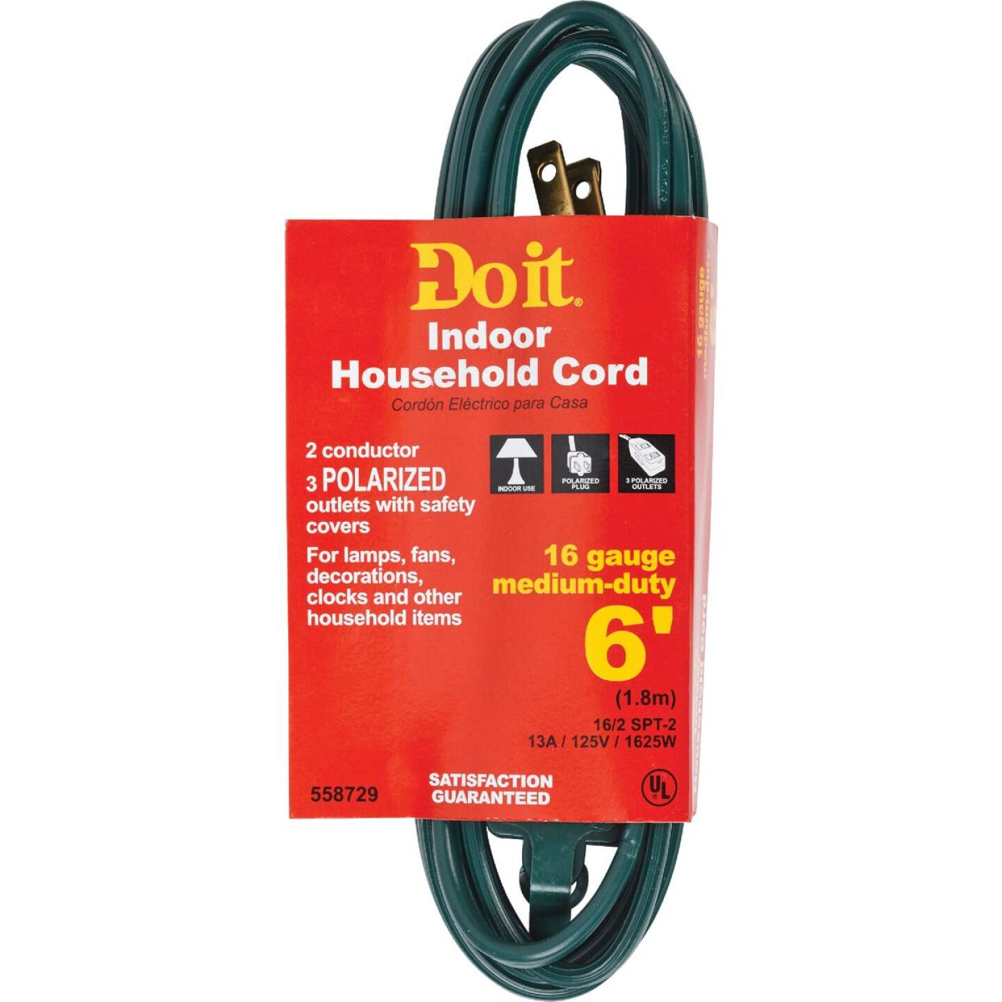 Do it 6 Ft. 16/2 Green Cube Tap Extension Cord Image 1