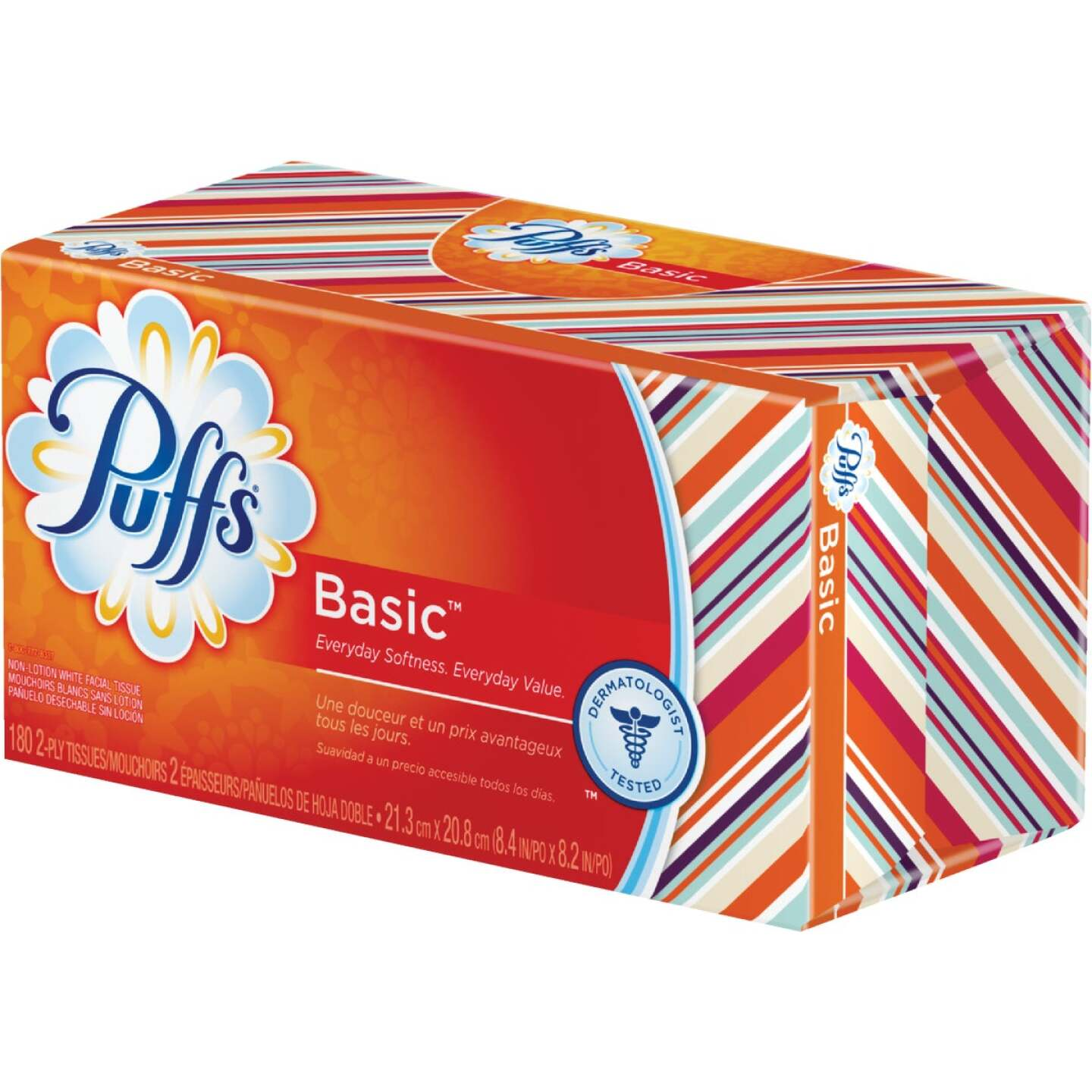 Puffs Basic 180 Count 2-Ply White Facial Tissue Image 1