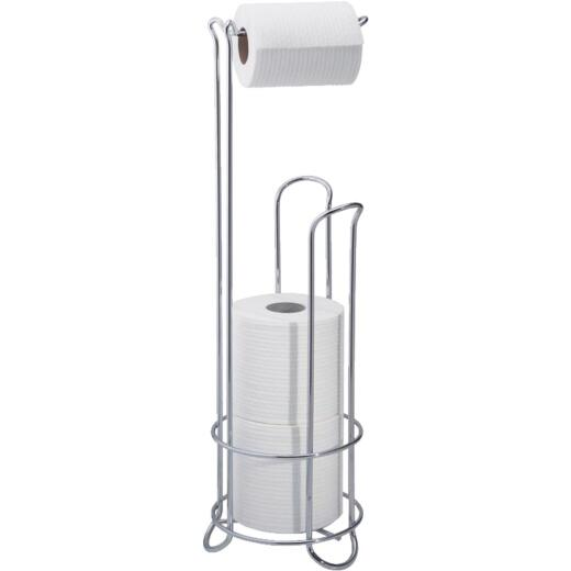 InterDesign Classico Chrome Freestanding Toilet Paper Holder