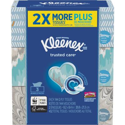 Kleenex Trusted Care 145 Count 2-Ply White Facial Tissue (3-Pack)