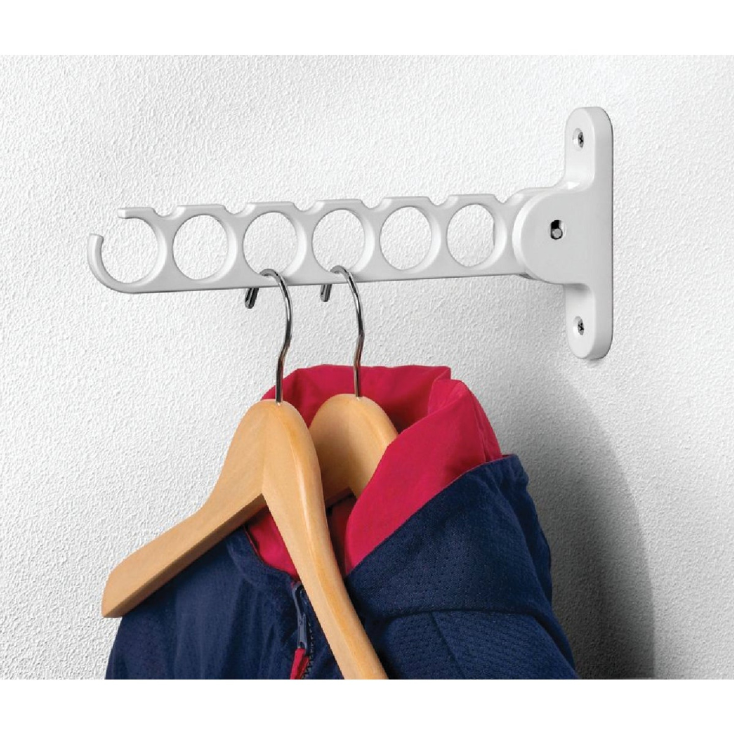 Spectrum White Wall Mount Hanger Holder Image 1