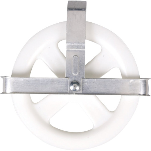 Household Essentials 5 In. Poly Wheel/Aluminum Strap Clothesline Pulley