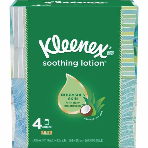 Kleenex Soothing Lotion Facial Tissues (4 Pack)