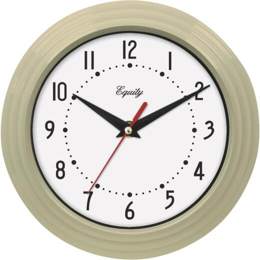 La Crosse Technology Equity Almond Traditional Wall Clock