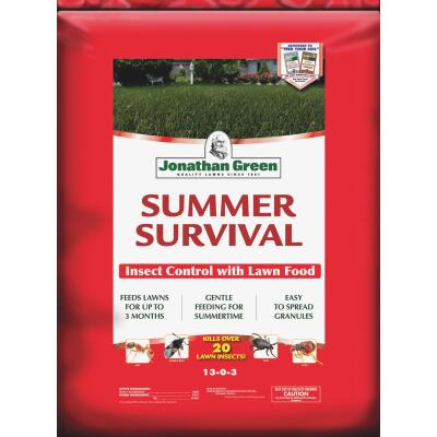 Jonathan Green Summer Survival 17 Lb. 5000 Sq. Ft. 13-0-3 Lawn Fertilizer with Insecticide