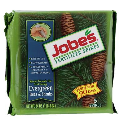 Jobe's Evergreen 13-3-4 Tree & Shrub Fertilizer Spikes (5-Pack)