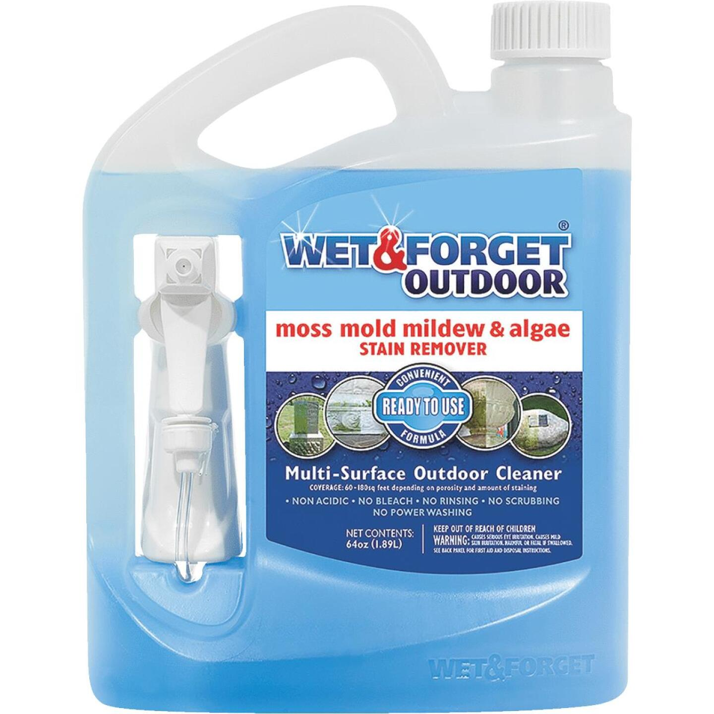 Wet & Forget 64 Oz. Ready To Use Trigger Spray Moss, Mildew, Algae, & Mold Stain Remover Image 1