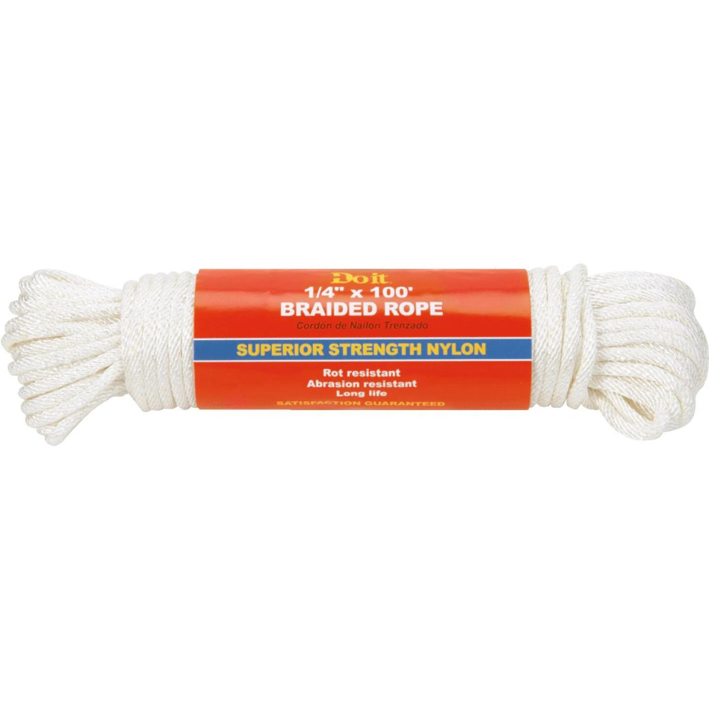 Do it 1/4 In. x 100 Ft. White Braided Nylon Packaged Rope Image 1