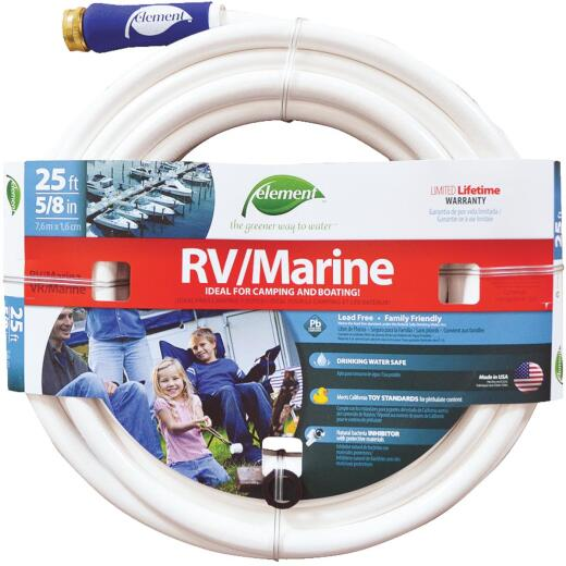 Element 5/8 In. Dia. x 25 Ft. L. Drinking Water Safe RV/Marine Hose