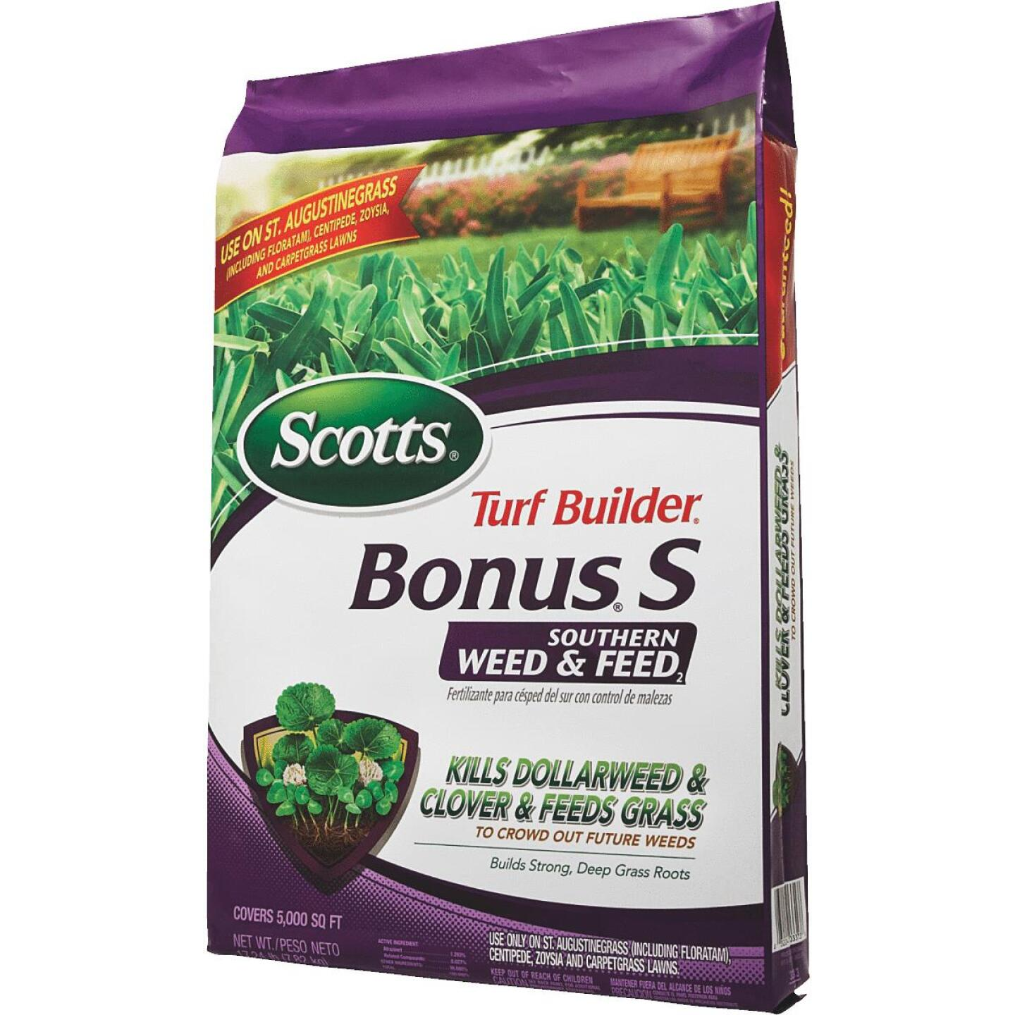 Scotts Turf Builder Bonus S Southern Weed & Feed 18.62 Lb. 5000 Sq. Ft. 29-0-10 Lawn Fertilizer with Weed Killer Image 6