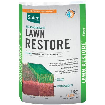 Safer Lawn Restore 25 Lb. 6250 Sq. Ft. 9-0-2 Lawn Fertilizer
