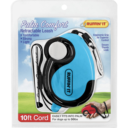 Westminster Pet Ruffin' it Palm Comfort Up to 30 Lb. 10 Ft. Cord Retractable Leash