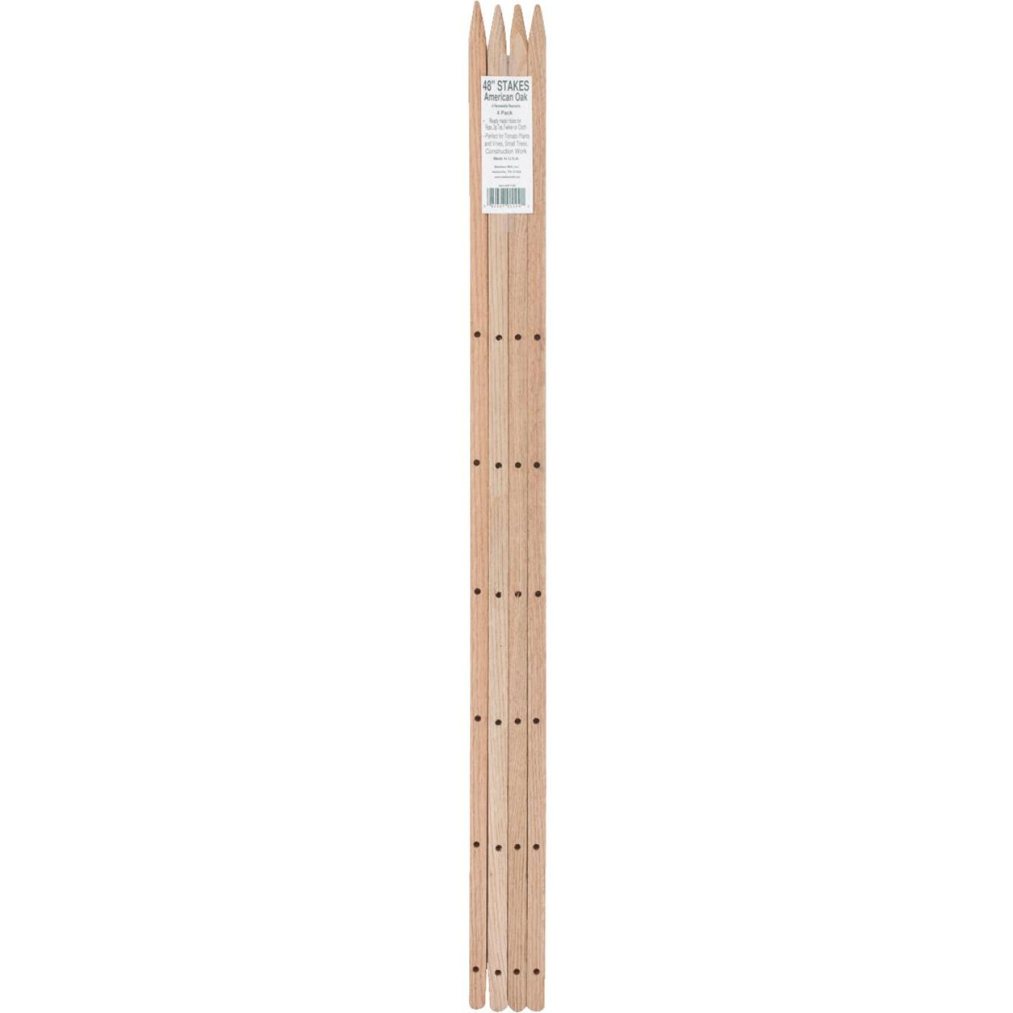 Madison Mill 48 In. Oak Wood Plant Stake (4-Pack) Image 2