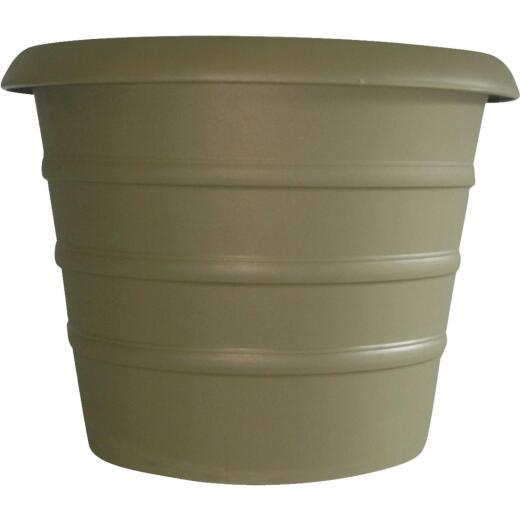 Myers Marina 17-1/4 In. H. x 20 In. Dia. Slate Green Poly Flower Pot