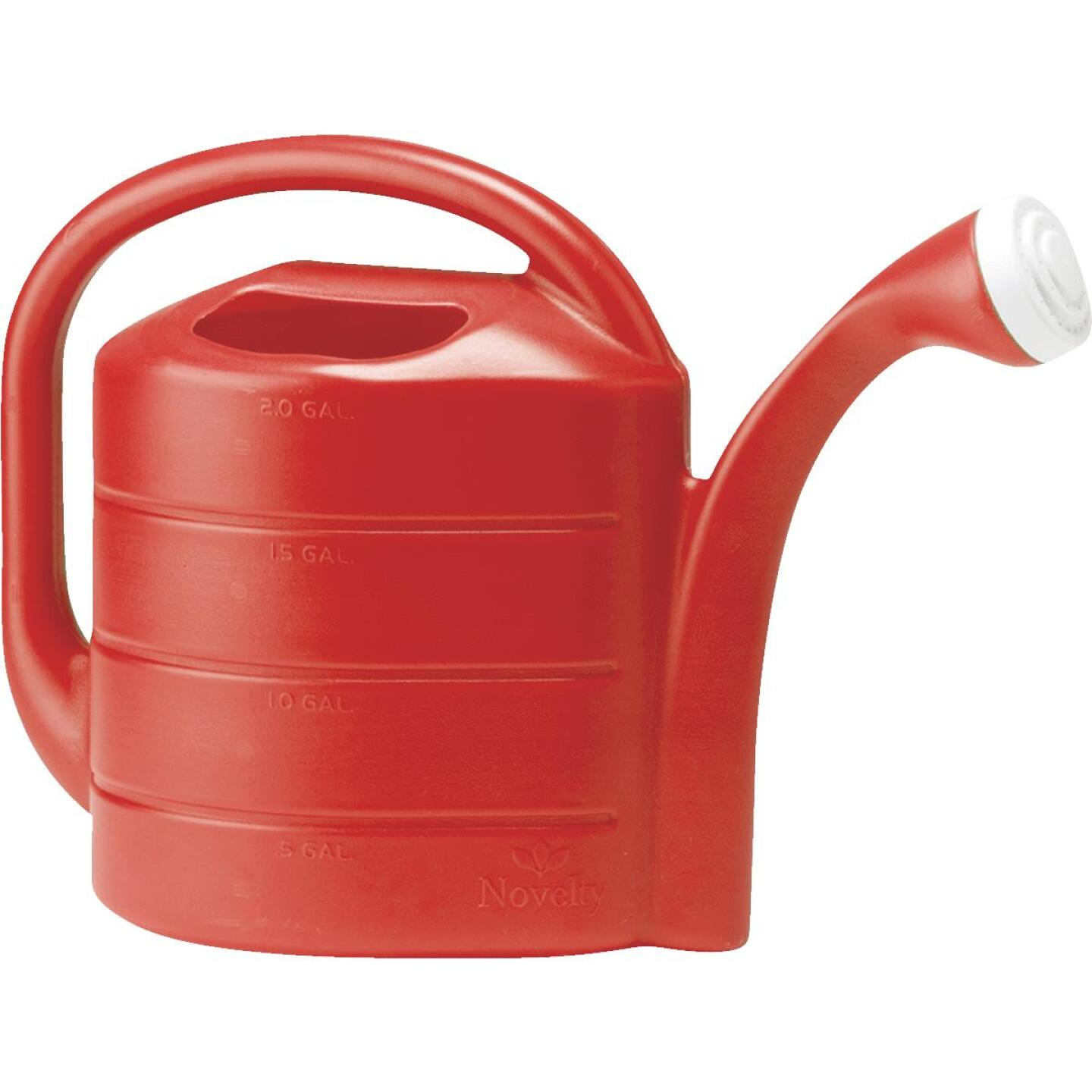 Novelty 2 Gal. Red, Blue, or Green Poly Watering Can Image 3