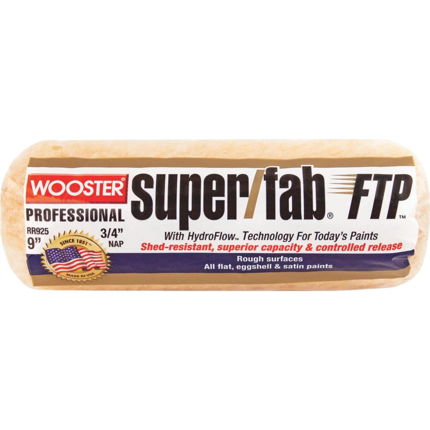 Wooster Super/Fab FTP 9 In. x 3/4 In. Knit Fabric Roller Cover Image 1