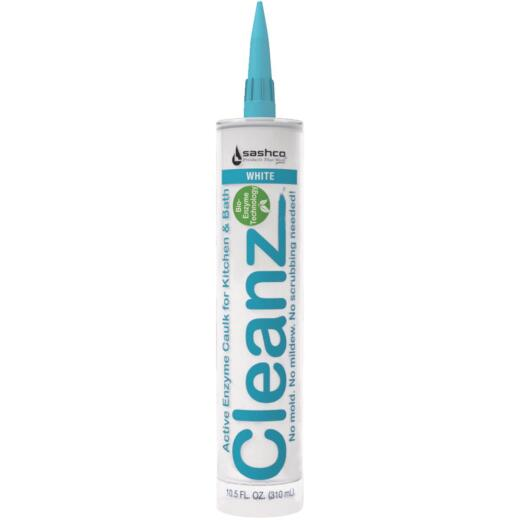 Sashco Cleanz White 10.5 Oz. Active Enzyme Kitchen & Bath Caulk