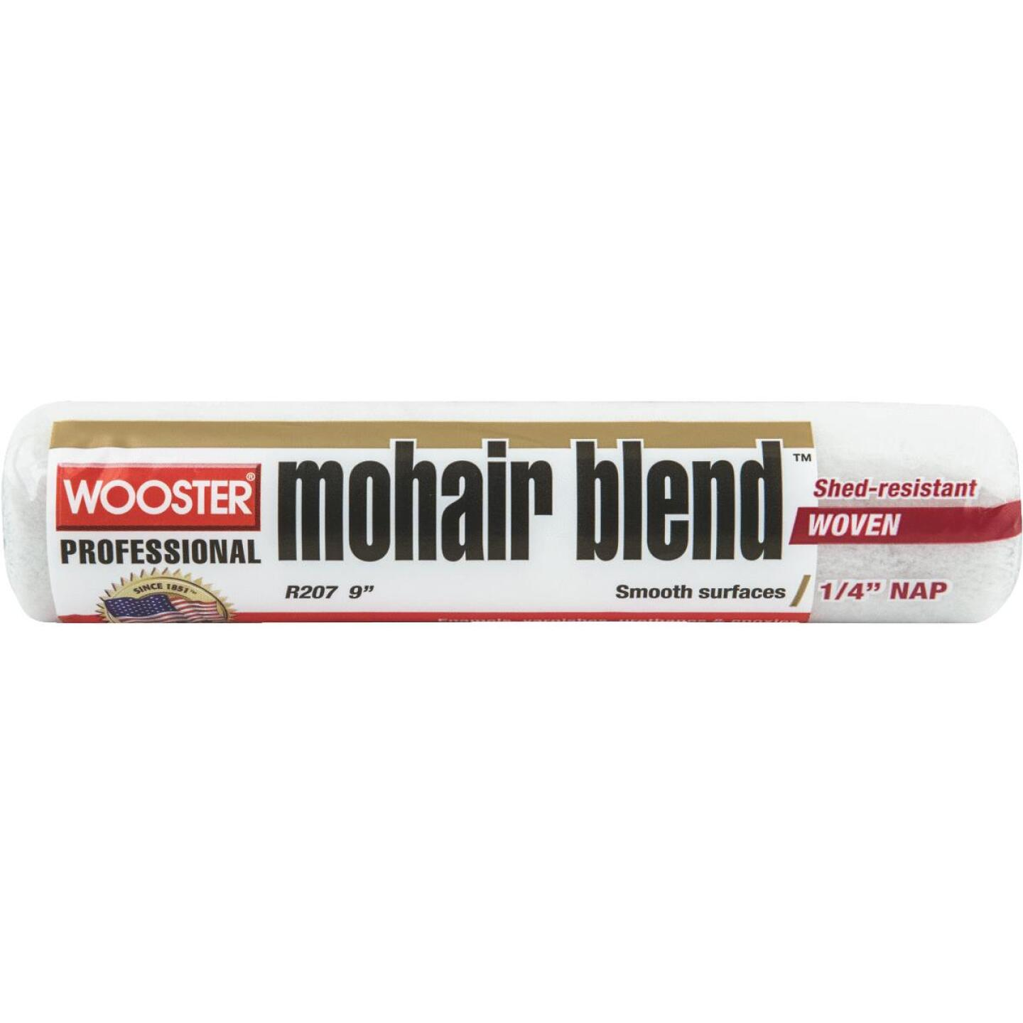 Wooster 9 In. x 1/4 In. Mohair Woven Blend Roller Cover Image 1